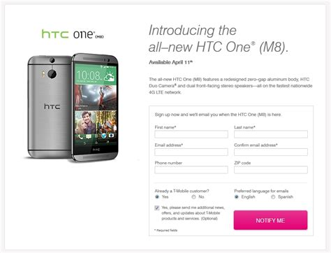 htc m8 t mobile htc one m8 pre registrations now open at t mobile