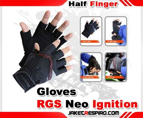 Respiro Gloves Denim sarung tangan setengah jari respiro rgs neo ignition