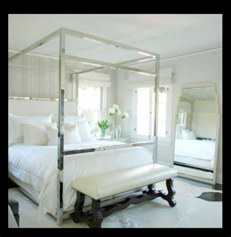 chrome canopy bed 30 best images about principal bedroom on pinterest