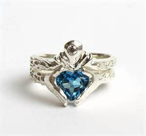 Sterling claddagh wedding and engagement ring by ricksonjewellery