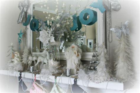 winter wonderland mantel holiday decorating pinterest