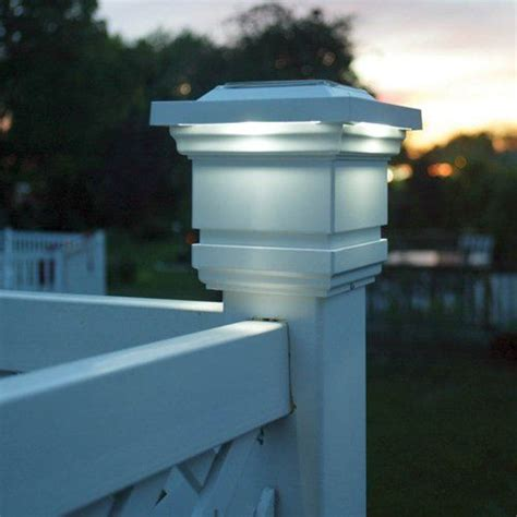 18 Best Images About Fence Post Lights On Pinterest Solar Lights For Pvc Fence
