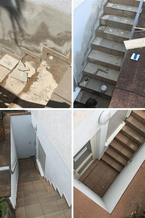 treppe neu fliesen treppensanierung treppe fliesen einer souterrain wohnung