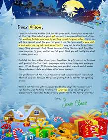 Parent Letter To Kid About Santa Letters From Santa
