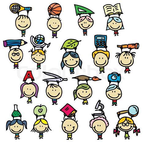 free school doodle vectors happy doodle go back to school stock vector colourbox