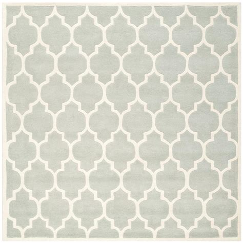 7 Square Area Rug Safavieh Chatham Grey Ivory 7 Ft X 7 Ft Square Area Rug Cht734e 7sq The Home Depot