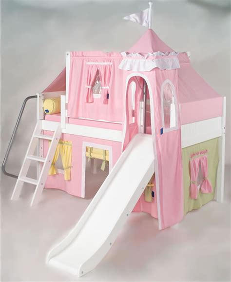 princess castle loft bed maxtrix kids princess castle loft bed with slide