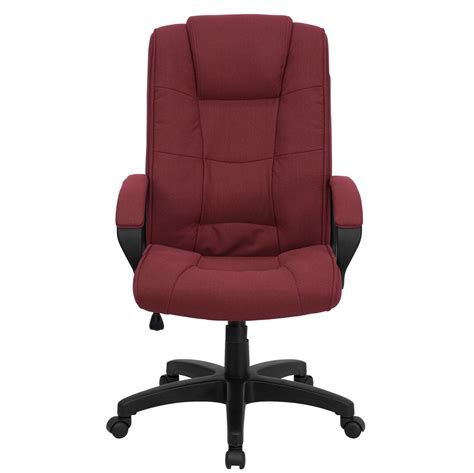 Office Chairs Fabric High Back Burgundy Fabric Executive Office Chair Go 5301b