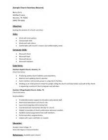 sle chruch resume with list skills and