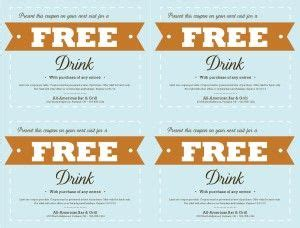 complimentary drink ticket template customize free food coupon template free drink ticket