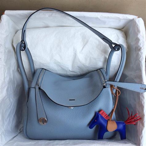 Hermes Lindy 7 112 j7 blue top togo leather hermes lindy bag30cm