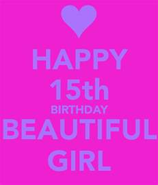 Happy 15 Birthday Quotes Happy 15th Birthday Beautiful Girl Poster Michelle