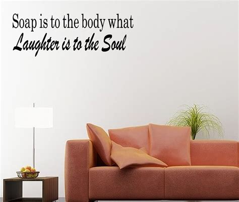 bathroom wall art stickers soap soul bathroom quote vinyl wall art sticker decal bath decor ebay