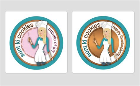 design label cookies branding print lisa kalandjian