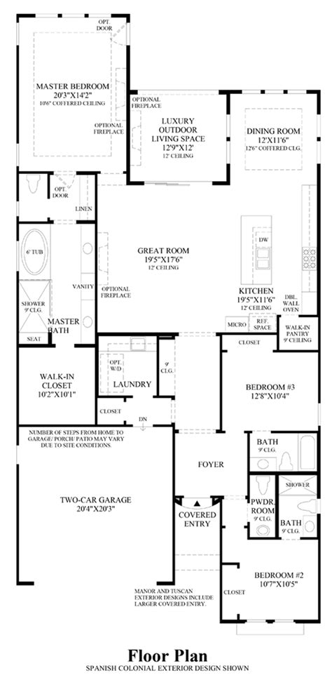 Robertson 100 Floor Plan by Toll Brothers At Robertson Ranch The Vistas The