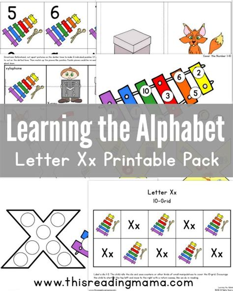printable games for learning the alphabet learning the alphabet letter x printable pack this