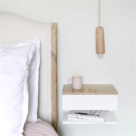 floating shelf side table floating bedside table with drawer and shelf by urbansize