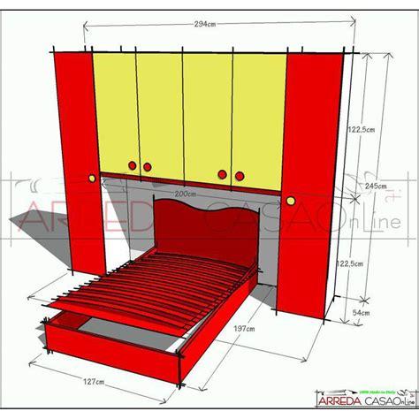 misure letto 1 piazza e mezza cameretta ponte letto 1 piazza e mezza rossa giallo limone
