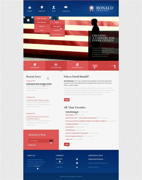 political party joomla template 41299