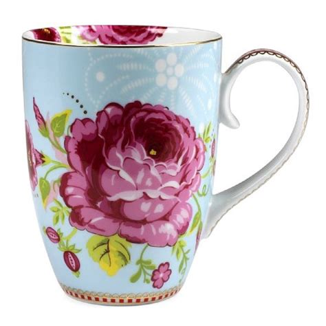 set of two large flower mugs by fifty one percent