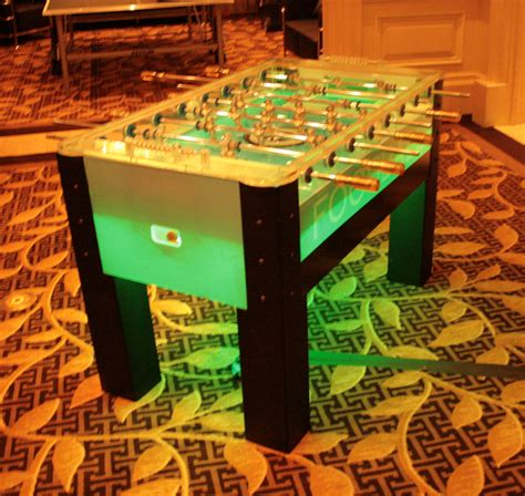 light up foosball table custom foosball table home design ideas and pictures