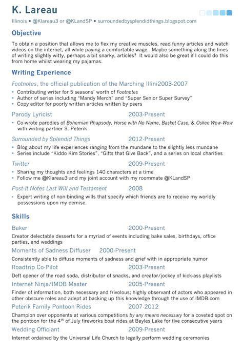 splendid things fake resume splendid