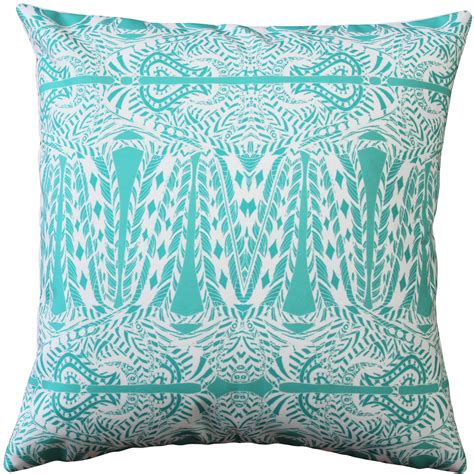 turquoise pillows for couch partridge st turquoise throw pillow 20x20