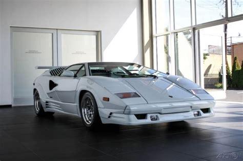 White Lamborghini Countach For Sale 1990 Lamborghini Countach 25th Anniversary White For Sale