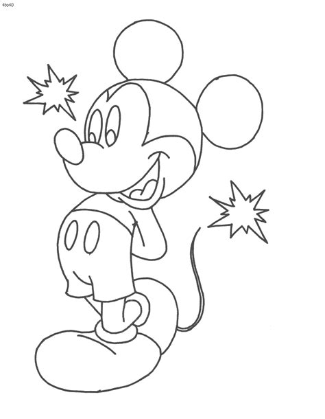 Mickey Mouse Coloring Pages Coloring Home - print mickey mouse coloring pages coloring home