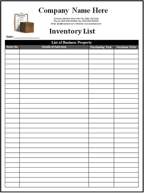 Inventory List Template Sheets Printable Tracking 222 18 Systematic Depiction So Blank Printable Inventory List Template