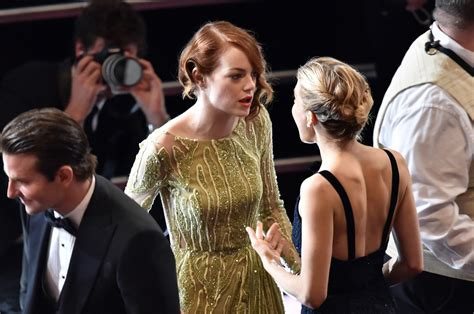 emma stone bradley cooper sienna miller photos photos 87th annual academy awards