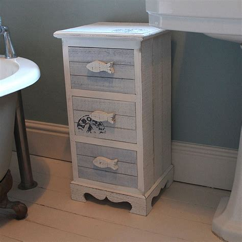 Nautical Bedside Table Ls by Nautical Blue And White Fish Bathroom Storage Chest Of