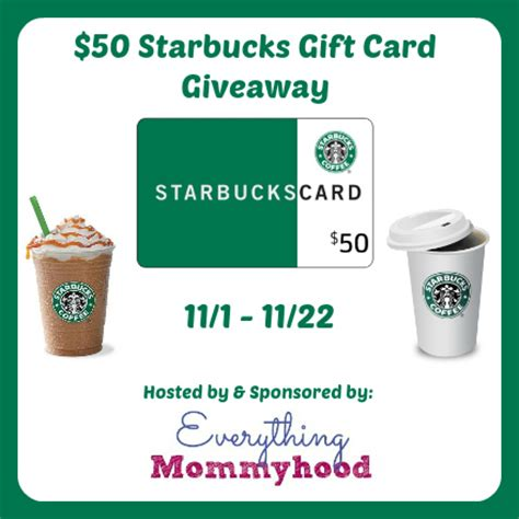 50 Starbucks Gift Card - 50 starbucks gift card giveaway ends 11 22 mom in love forever