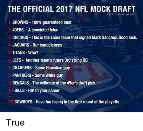 Nfl Draft Memes - 25 best memes about nfl mock draft nfl mock draft memes