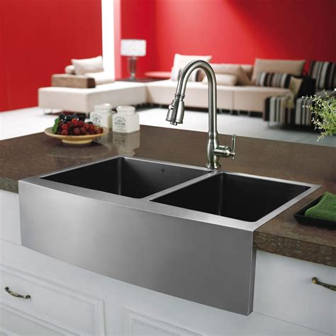 vigo stainless steel farmhouse sink vigo industries vgr3320bl 33 inch bowl stainless