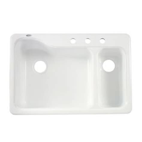 American Standard Silhouette 33 Quot Double Bowl Kitchen Sink