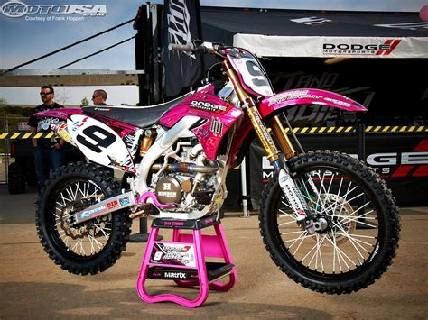 pink motocross 2011 anaheim ii supercross photos motorcycle usa