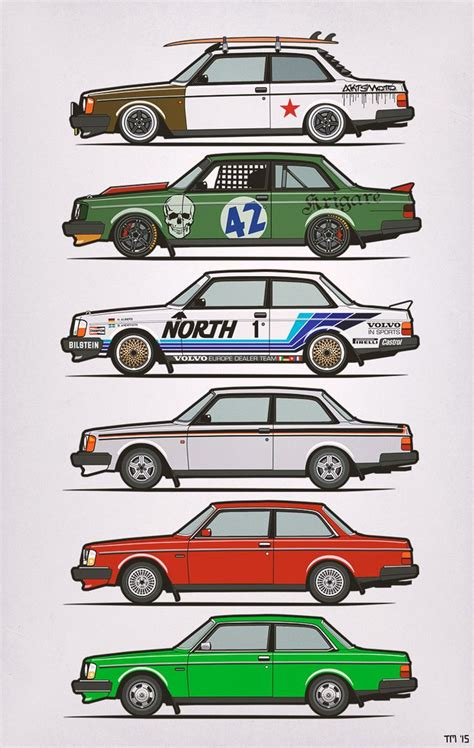 volvo track volvo 240 series coupes 242 gt slammed nordica racing