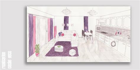 Formidable Idee Deco Cuisine Ouverte Sur Salon #8: Croquis-cuisine-ouverte-avec-salon.jpg