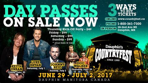 country music festival jacksonville 2014 lineup dauphin s countryfest 2017 limited tickets remaining