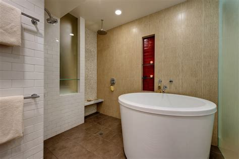Soaking Tub With Shower Soaking Tub And Shower Contemporary Bathroom San