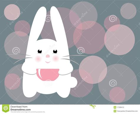 vector cute rabbit stock vector image  glow background