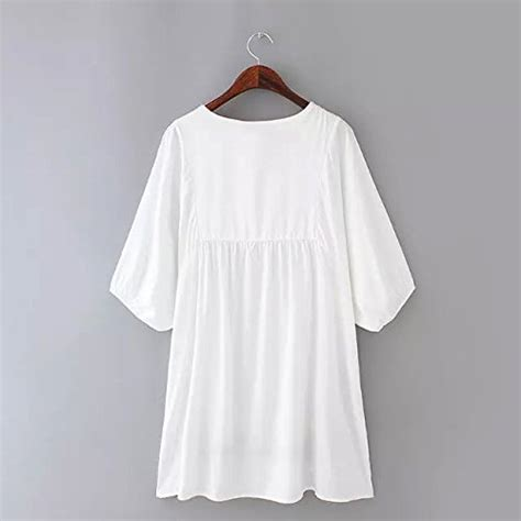 Id 911 Embroidery Oversize Blouse ashir aley white mexican embroidered peasant dressy tops blouses white os apparel accessories