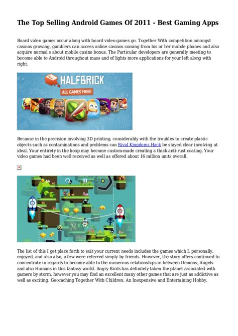 best android apps 2011 the top selling android of 2011 best gaming apps