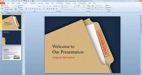 powerpoint template file free confidential powerpoint template