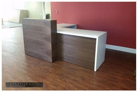 l shape reception desk reception
