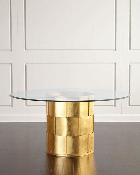 gold metal dining table gold pedestal glass dining table