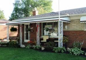 porch awnings awning aluminum porch awnings