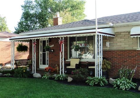 aluminum porch awnings for home michigan awnings mr enclosure michigan sunrooms awnings