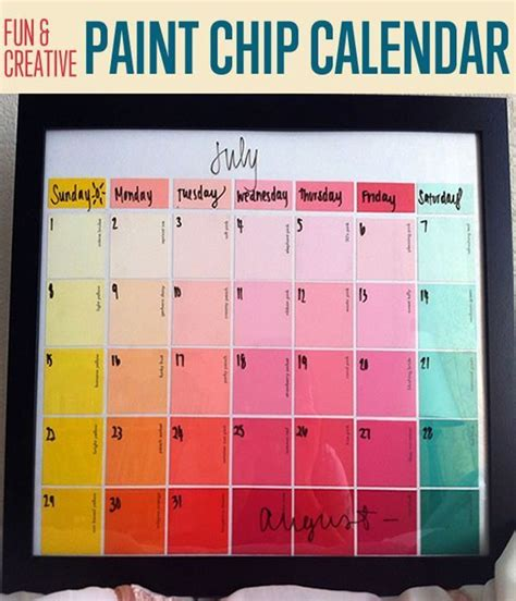 how to get a paint chip for color matching best 25 homemade calendar ideas on pinterest cool